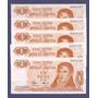1 Pesos Ley - 5 Billetes Nuevos Sin Circular Correlativos