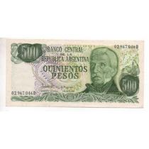 500 Pesos Ley18188 Bottero2433 Año 1982 Cd 4027
