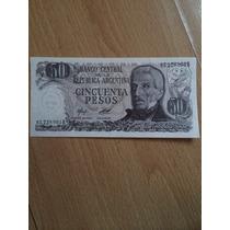 Billetes 50 Pesos Argentinos Gral. San Martin