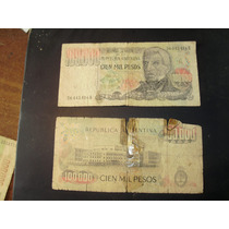 Billete Antiguo Argentino De 100000 Pesos