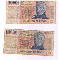 Billete Argentino De 1.000.000 De Pesos Ley 18.188
