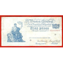 Billete Argentino 10 Pesos Ley 12.155