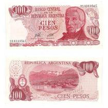 Billete Argentina 100 Pesos Ley 1977 Bot 2405a