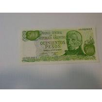 Billete 500 Pesos Ley Super Bueno Decada Del 70 Oportunidad