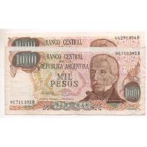 2 Billetes 1000 Pesos Ley Bottero2459 Y2459(a)cd 4099