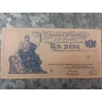 Lote Billetes Argentina 1 Peso / Ley 12155 K- S/ C- Ref S1