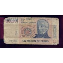 Billete 1000000 Pesos Ley Don José De San Martín Serie A