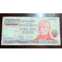 Argentina 10000 Pesos Billete Serie G En La Plata Tolosa