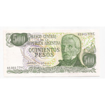 Argentina Billete De 500 Pesos Ley Bottero 2432 !!