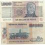 Billete 1.000.000 Pesos Ley Serie A O B 1 Millon Muy Bueno