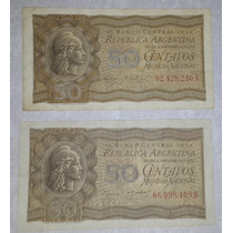 Billete Argentina 50 Centavos Moneda Nacional C/u