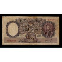 Banco Central 1000 Pesos M/n 1952 Numeros Rojos