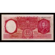 Argentina 10 Pesos Moneda Nacional 1946 Raro Sin Circular