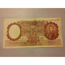 Bottero N 2055. Billete De 100 Pesos Moneda Nacional.
