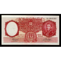 Guardia Imp. Banco Central 10 Pesos 1960 Sin Circular