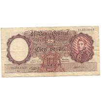 Billete 100 Pesos Moneda Nacional Bottero 2051 Año 1958
