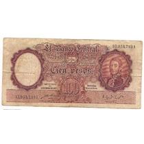 Billete 100 Pesos Moneda Nacional Bottero 2038 Año 1949