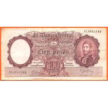 Billete Argentino Cien Pesos Bottero# 2046 1956