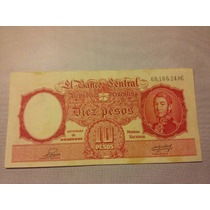 Bottero N 1945. Billete De 10 Pesos Moneda Nacional.