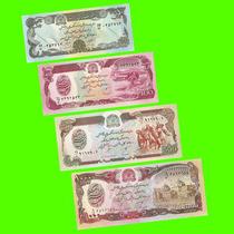 Afganistán - Lote/serie 4 Billetes - 50 A 1000 Afganis ¡s/c!