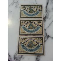Billete Alemania Notgeld Lutjenburger 50 Pfennig 1921 X 3