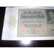Antiguo Billete De 10000 Marcos Alemanes