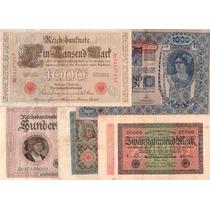 Lote 5 Billetes Antiguos, 4 Alemania Y 1 Austria. ¡oferta!
