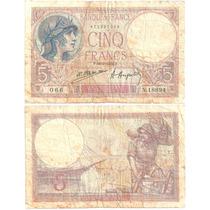 B D M / Francia / 5 Francos / 1924 / P#72c