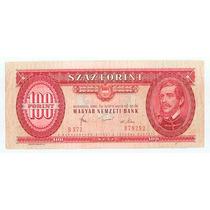 Billete Hungria 100 Forint 1980