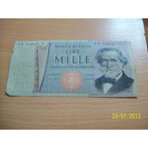 Billete De Italia 1.000 Lira (1969)