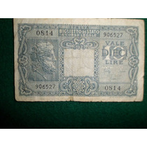 Billete De 10 Lire De 1944
