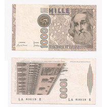 Billete Italia 1000 Liras 1982