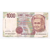 Italia Billete De 1000 Liras Año 1990 !!