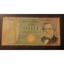 Italia. Billete De 1000 Liras Año 1969. G Verdi. Usado !!!