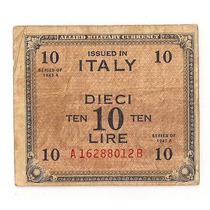 Italia Billete Militar 10 Liras Año 1943 2° Guerra Mundial