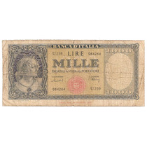 Italia, 1000 Lire, 1949. P#88b. Raro. G+ / Vg