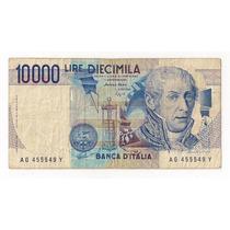 Italia Billete De 10.000 Liras Año 1984