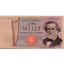 Billete De Italia - 1000 Liras - 1971 - En Mendoza