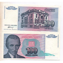 Yugoslavia 100 Dinara Año 1994 S/c Bm 2030