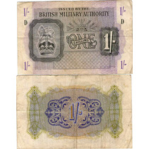 Gran Bretaña Billete Militar 1 Shilling 1943 M2 Vf