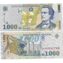 Billete De Rumania 1000 Lei Año 1998 Flor Sin Circular