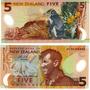 Billete Nueva Zelanda 5 Dolares Plastico Año 2005 Sin Uso