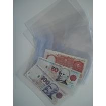 100 Sobres Plásticos Para Billetes Marca Vk