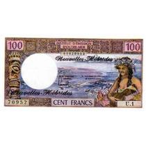 Hermoso Billete Nueva Hebrides 100 Francos Año 1977 Sin Usar