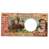 Hermoso Billete Territorio Frances Del Pacifico 1000 Francos