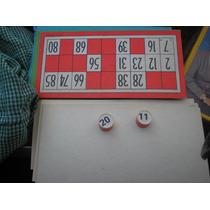 Bingo Familiar Con Fichas Porotos Y Cartones