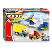 Blocky Vehiculos 2 P Armar Autos Trenes Y Mas! 100 Piezas