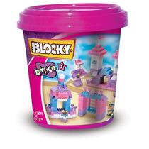 Blocky Balde Basico N°3 Ladrillitos Nenas 210 Piezas Dimare