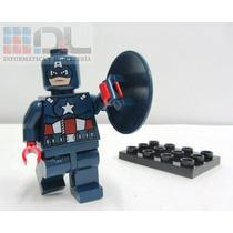 Figura Capitán América Grande 10cm Didáctica P/armar Más Mod