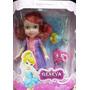 Muñeca Ariel La Sirenita Nena Articulada 15cm Con Flounder